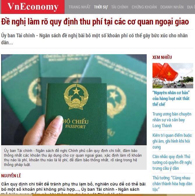 Báo chí Việt Nam đưa tin, bài mổ xẻ về vấn nạn lạm thu tại các Đại sứ quán - Ảnh: Internet