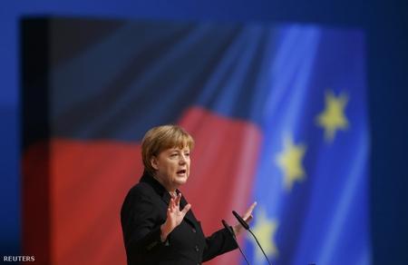 Chủ tịch CDU Angela Merkel trong kỳ đại hội - Ảnh: Ralph Orlowski (Reuters)