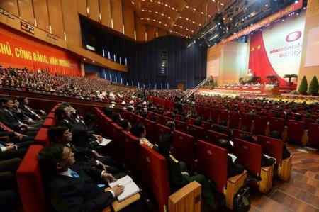 Bắt đầu Đại hội lần thứ 12 của Đảng Cộng sản Việt Nam - Ảnh: Hoàng Đình Nam (AFP)