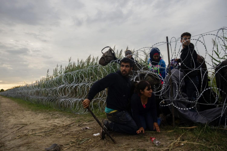 Đại đa số người tỵ nạn trong thời gian ở Hung đã không có hành vi phạm tội nào khác ngoài việc vượt biên trái phép - Ảnh: index.hu