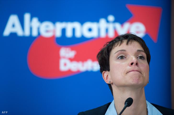 Frauke Petry, thủ lĩnh đảng AfD - Ảnh: Bernd Von Jutrczenka (AFP)