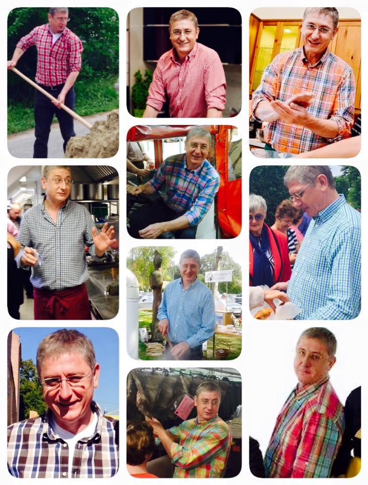 Cựu thủ tướng Gyurcsány Ferenc cũng tải lên mạng FB một loạt ảnh ông mặc áo kẻ ca-rô - Ảnh: FB