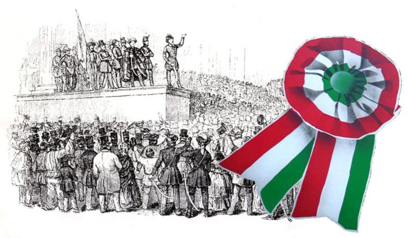 Hình ảnh cuộc cách mạng đi kèm biểu tượng của nó