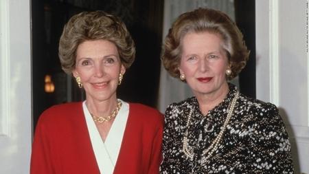 Nancy Reagan và Thủ tướng Margaret Thatcher, London 22-7-1986