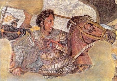 Tranh Mosaic, trận Issus giữa Vua Alexander và vua Darius III năm 333 TCN, để lại ảnh hưởng tới tận bây giờ