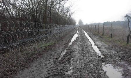 Hàng rào ngăn biên giới Hungary - Serbia - Ảnh: index.hu