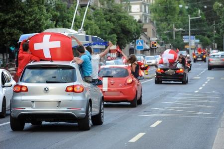 Thụy Sĩ đang trong cơn sốt EURO - Ảnh: www.24heures.ch