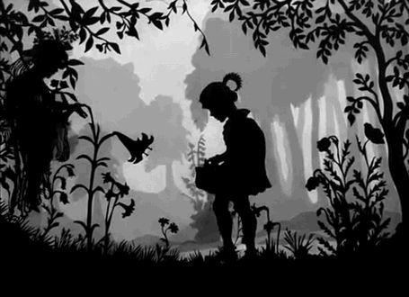 """Cảnh trong bộ phim hoạt hình """"Người đẹp ngủ trong rừng"""" (Dornröschen, 1954)"""
