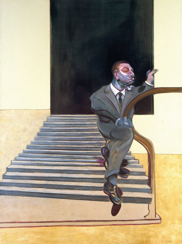 """Portrait of a Man Walking Down Steps"" (1972)"