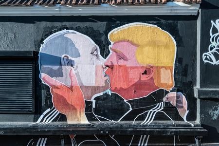 Tranh tường ở Vilnius, thủ đô Lithuania. Trump thấy sức mạnh và sự trâng tráo trong Putin. Putin thấy trong Trump ẩn chứa một cơ hội lớn - Ảnh: Aleksandr Lukyanov