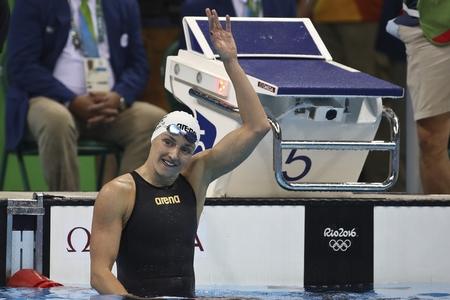 Hosszú Katinka sau chiến thắng lần thứ hai tại Thế vận hội Rio