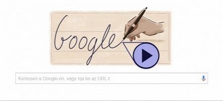Google Doodle vinh danh Bíró László - Ảnh chụp màn hình