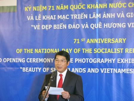 ĐS. Nguyễn Thanh Tuấn phát biểu trong lễ kỷ niệm Quốc khánh 2-9 tại Hungary