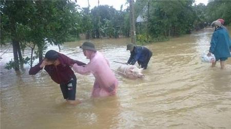 Cảnh tang thương của người dân do thủy điện xả lũ - Ảnh: baodatviet.vn