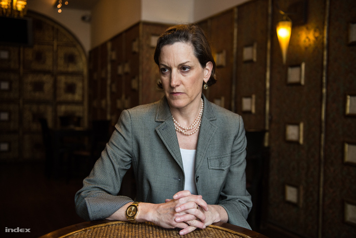 Anne Applebaum - Ảnh: Hernádi Levente Haralamposz (index.hu)