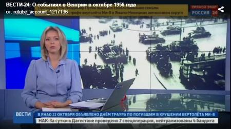 Chương trình truyền hình bôi nhọ cách mạng 1956 của truyền thông Nga - Ảnh chụp màn hình