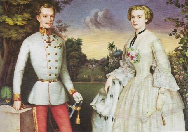 Cặp vợ chồng trẻ Franz Joseph và Elisabeth khi mới kết hôn (năm 1854) - Ảnh: Wikipedia