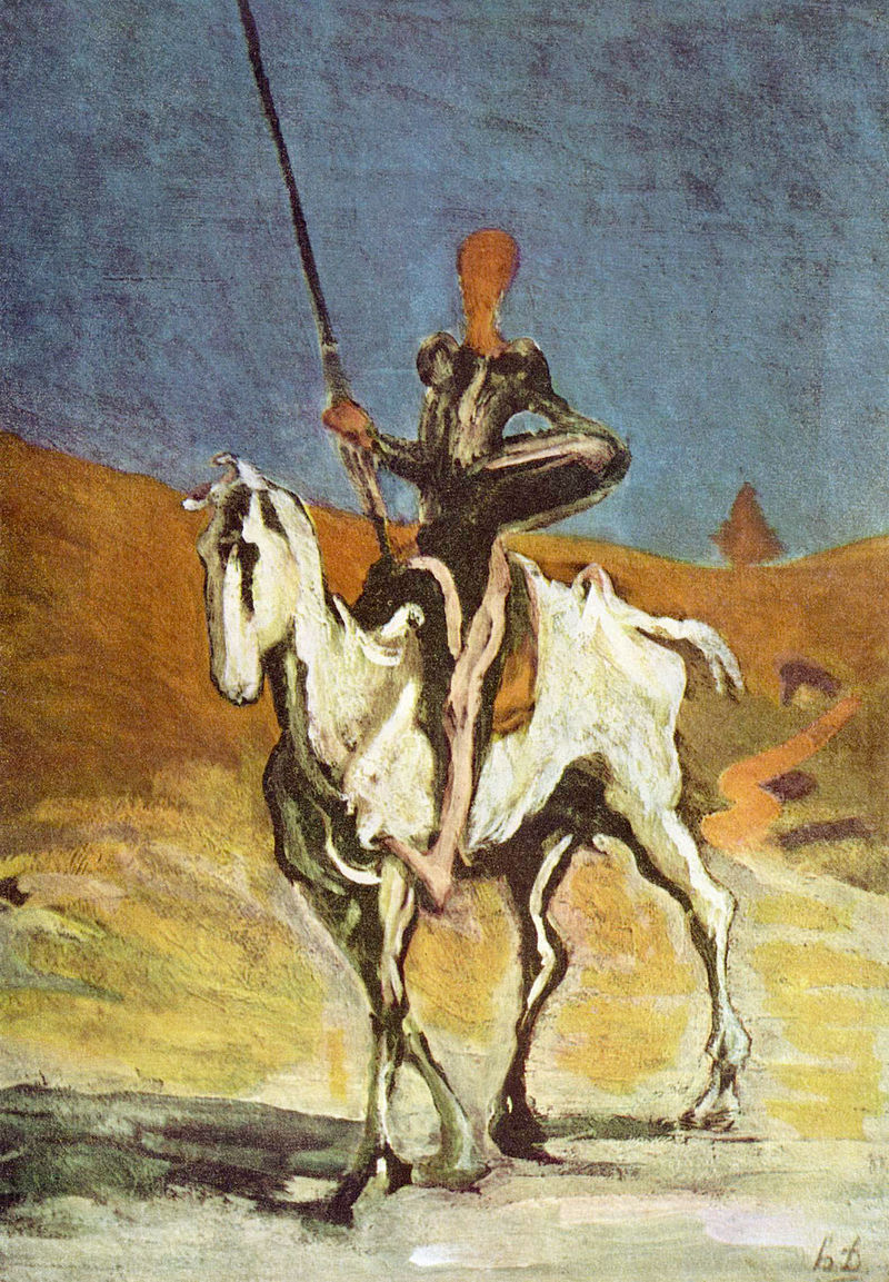 """Don Quijote xứ Mancha"", tranh của Honoré Daumier"