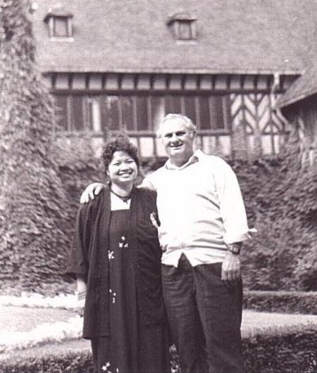 Tác giả và anh Thành Klaus tại Potsdam, tháng 4-1987 - Ảnh do nhân vật cung cấp