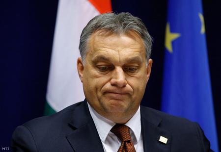 Thủ tướng Orbán Viktor trong một cuộc họp báo tại Brussels, Bỉ - Ảnh: Julien Warnand (MTI)