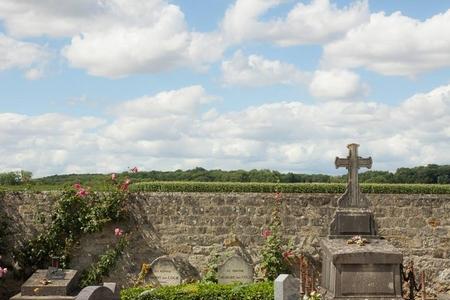 Hai ngôi mộ đơn sơ lọt thỏm góc rìa nghĩa trang, bao quanh là cánh đồng trải dài. Nhìn phần mộ, chắc không ai hình dung đây là nơi yên nghỉ của một trong những họa sĩ lừng danh nhất thế giới!