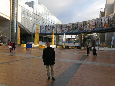 Trước tòa nhà Nghị viện Châu Âu tại Brussles, Bỉ, một trong những cơ quan lập pháp quyền lực nhất thế giới - Ảnh tư liệu