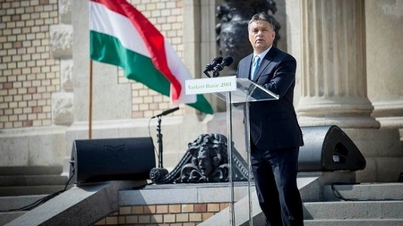 Thủ tướng Orbán Viktor tránh được một cuộc biểu tình phản đối do lệnh cấm độc đoán của cơ quan cảnh sát - Ảnh: 24.hu