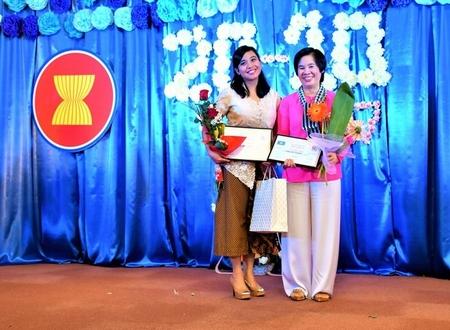 Những gương mặt rạng rỡ trong ngày hội của phụ nữ - Ảnh: Facebook của Hồ Ngọc Nga