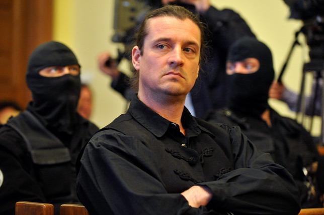 Budaházy György trước tòa - Ảnh: origo.hu