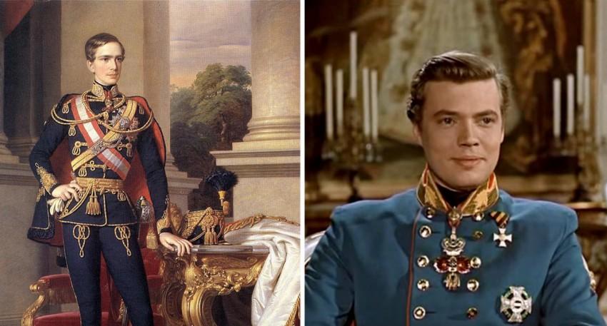 Nam tài tử Karlheinz Böhm (phải) trong vai Franz Joseph - Ảnh tư liệu