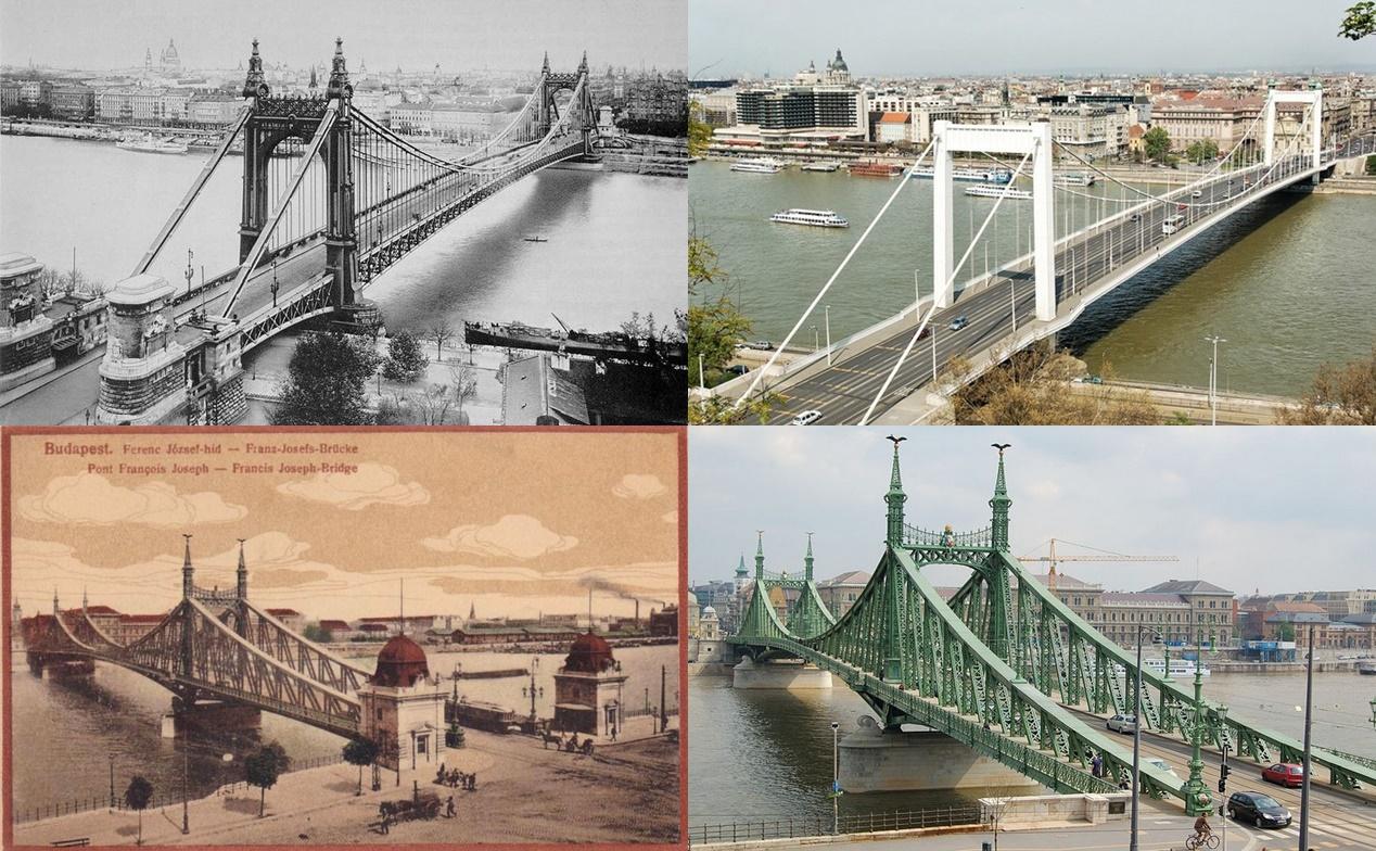Ký ức của cặp vợ chồng Franz Joseph - Elisabeth tại Hungary còn được lưu giữ với hai cây cầu lịch sử: Cầu Tự do (vốn mang tên Franz Joseph, món quà của Hoàng đế Áo nhân kỷ niệm một ngàn năm lập quốc Hungary), và Cầu Erzsébet (Elisabeth)