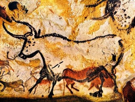 Bò từng là hình mẫu đầu tiên trong lịch sử hội họa: những bức tranh đầu tiên trong hang động Lascaux (Pháp)