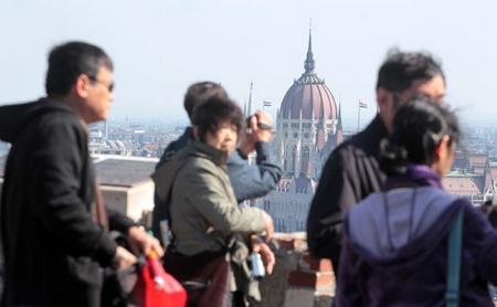 Du khách Trung Quốc tại Budapest - Ảnh: Horváth Péter Gyula