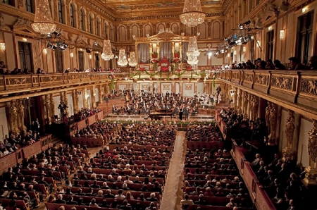 Hòa nhạc mừng năm mới tại Hội trường Vàng của Musikverein (Vienna)