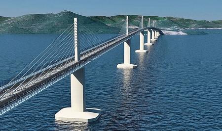 Cây cầu Pelješac sẽ vươn cao trên biển Adriatic