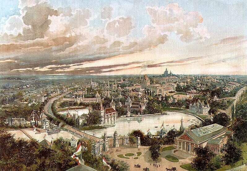 Khu vực Công viên Thành phố thời kỳ diễn ra Đại lễ Thiên kỷ (1896)