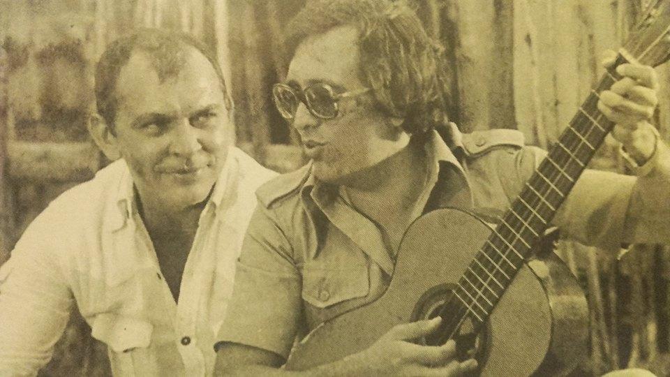 Cùng S. Nagy István, người bạn thân thiết, tác giả phần nhạc của nhiều ca khúc do Máté Péter sáng tác - Ảnh tư liệu