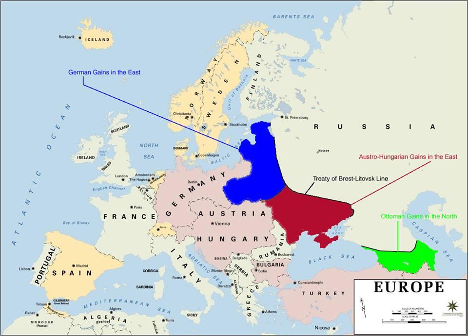 Mất đất những giữ được chế độ: bản đồ nước Nga - Xô-viết sau Hiệp ước hòa bình Brest-Litovsk