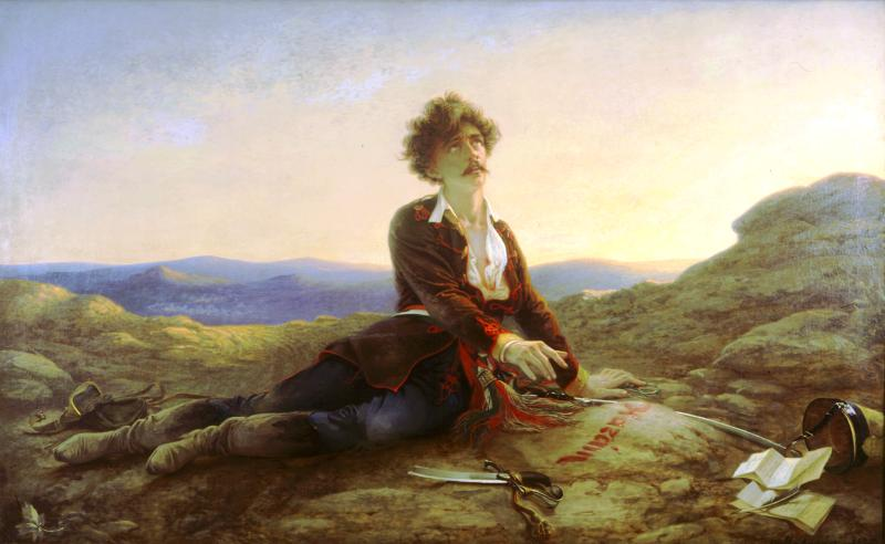 """""""Cái chết của Petőfi"""" (1875), họa phẩm nổi tiếng của danh họa Madarász Viktor"""