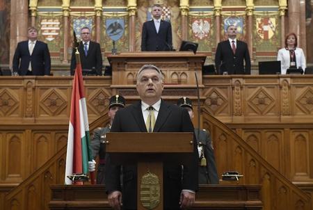 Thủ tướng Orbán Viktor trong lễ nhậm chức - Ảnh: MTI
