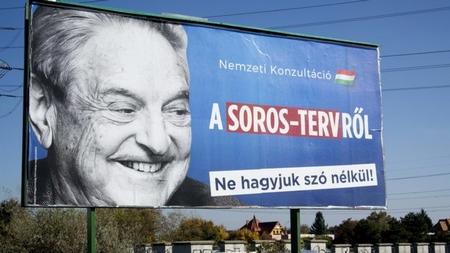 Nhà tỷ phú Soros trong tâm điểm của sự bài trừ của chính quyền cánh hữu Hungary từ ba năm nay - Ảnh: 24.hu