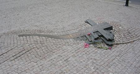 Đài tưởng nhiệm hai ngọn đuốc sống đầu tiên của Tiệp Khắc - Quảng trường Con Ngựa, Praha