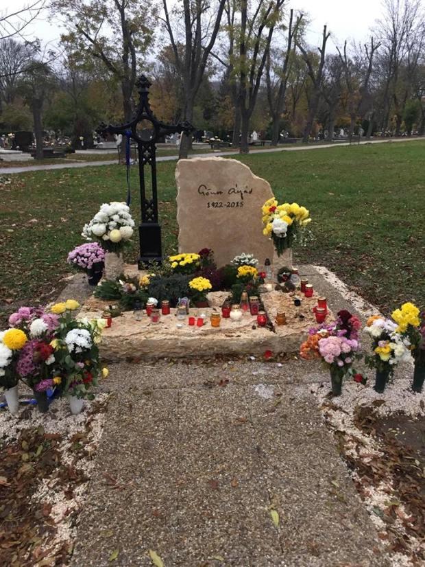 Vài năm sau khi qua đời, Göncz Árpád đã nhận được tấm bia mộ khang trang - Ảnh: ripost.hu