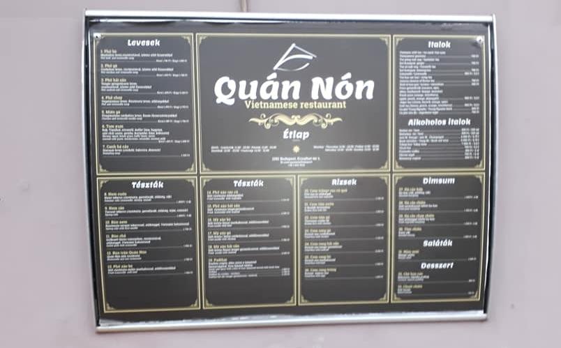 Menu có phần tiếng Việt đầy đủ dấu