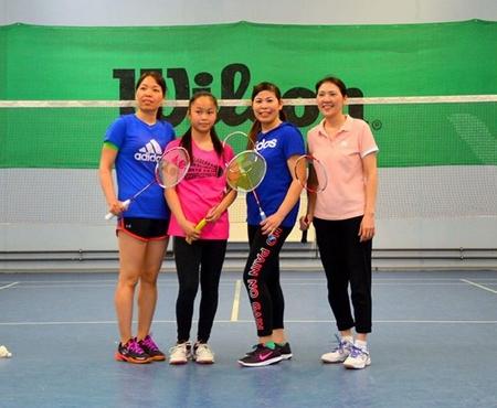 Một số cây vợt trẻ của CLB - Ảnh do CLB cung cấp