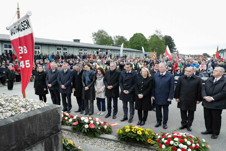Tổng thống Áo Alexander Van der Bellen cùng các quan chức tại lễ kỷ niệm giải phóng trại tập trung Mauthausen