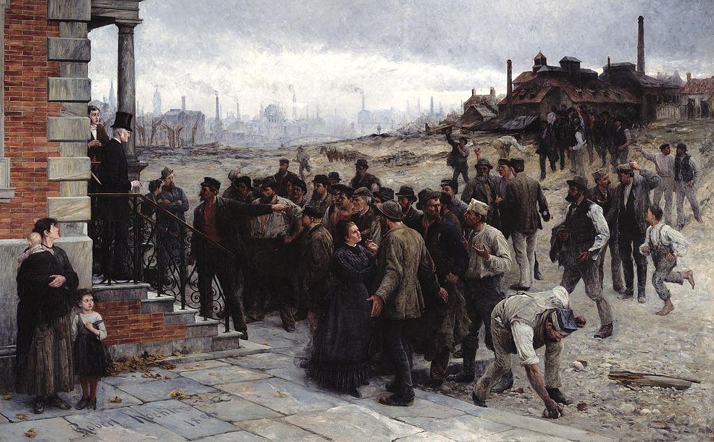 """Họa phẩm """"Đình công"""" (1886) của họa sĩ Robert Koehler"""