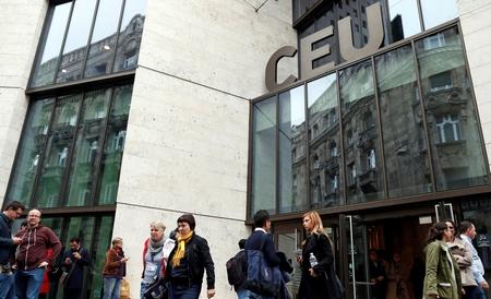Trụ sở của CEU, đại học danh giá nhất tại Hungary - Ảnh: Szabó Bernadett (Reuters)