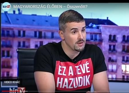 """Dân biểu đối lập JOBBIK Jakab Péter: """"Kênh truyền hình này dối trá"""" - Ảnh chụp màn hình"""