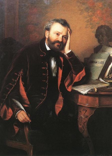 Nhạc sĩ Erkel Ferenc - Họa phẩm của họa sĩ Györgyi Giergl Alajos (khoảng 1850)